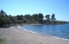 Beach in front of the Villa Mirca